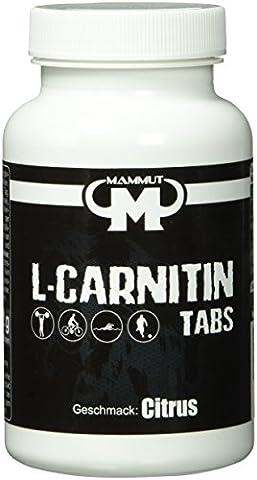 Mammut L-Carnitin Tabs - Citrus Geschmack - 60 Stück, 1er Pack (1 x 132 g)