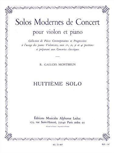 SOLO DE CONCERT N08 VIOLON ET PIANO