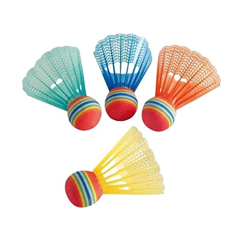 HUDORA Badminton Bälle, Ersatzball für Badminton-Set Fun, 4 Stück, 76047