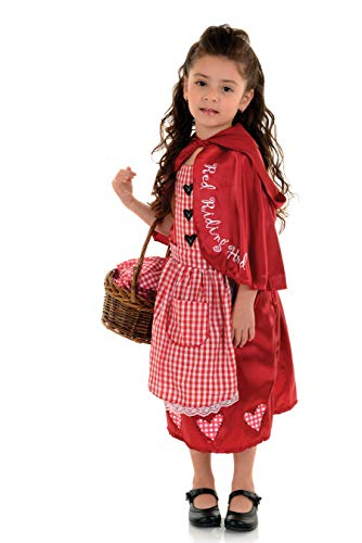 Underwraps Little Red Riding Hood Toddler Girls Halloween Costume-M Medium