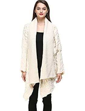 Vogueearth Fashion Mujer's Ladies Largo Manga Thick Knit Jersey Sudaderas Suéter Open Cardigan Shawl