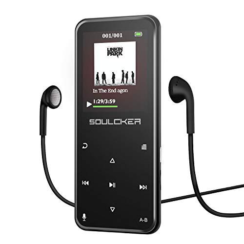 MP3 Player, Bluetooth 8GB MP3 Player mit Kopfhörern, Digital Kinder MP3 Player mit Lautsprecher FM Radio Voice Recorder,unterstützt erweiterbar Max bis zu 128G, Kopfhörer und Sport Armband enthalten (Kinder Mp 3 Player)