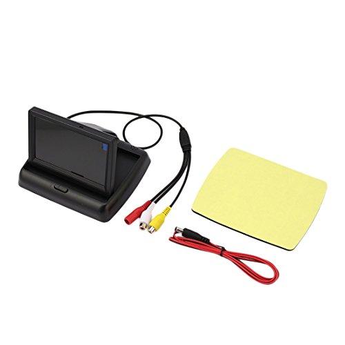 12V 4,3 Zoll HD LCD Digital Klapp Desktop Universal Monitor Kamera Rückfahrkamera Display mit 2 Video-Input-Ports