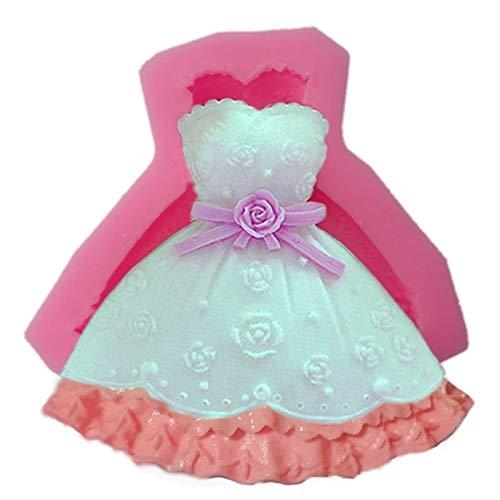 Zoomy far Zoomy weit: 1PCS schöne Brautkleid Prinzessin Kleid Fondant 3D-Schokoladen-Kuchen-Dekor...