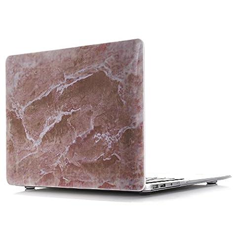 MacBook Air 11 Hülle, L2W Macbook Air 11,6 Zoll Hard Shell Marmor Muster Gummi beschichtet für Macbook Air 11.6 '' (Modell: A1370 / A1465) [Marmor hübsch in rosa DL-26]