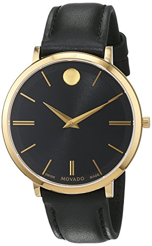 Movado Damen Datum klassisch Quarz Uhr mit Leder Armband 607091