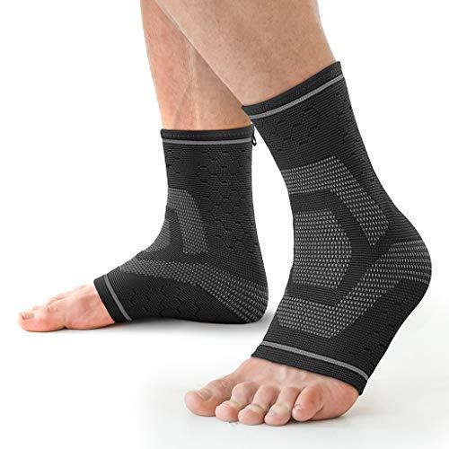 Awenia Fussbandage Fußbandage Fußgelenk Fersensporn Bandage Knöchel Laufen & Sport für effektive Schmerzlinderung,Premium Bandage Sprunggelenk für Männer & Frauen