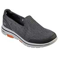 SKECHERS GO WALK 5 Mens Shoes, Grey (Charcoal), 9.5 UK (44 EU)