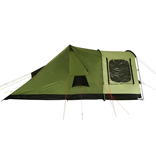 41IOYJp3ZjL. SS500  - 10T Outdoor Equipment Unisex's Tropico 4 Tunnel Tent, Green, One Size/4 Persons