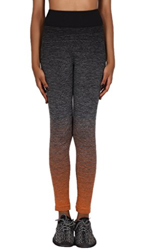 Smile YKK Pantalon Yoga Running Sport Femme Legging Slim Elastique Casual Plage Jogging Violet