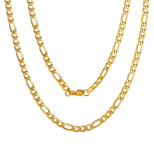ChainsPro Herre Schmuck Feine Kette Damen 925 Silber 6mm - Damen Frauen Halskette Gelb in 46-76 cm Verfügbar