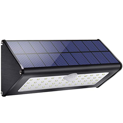 Licwshi Solar Gartenleuchte 1100lm 4500mAh Solarlampen für Außen mit Infrarot Bewegungsmelder Wasserdicht IP65, 4 intelligenten Modi für Garten, Tor, Wand, Weißes Licht -