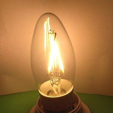 FDH 2W E14 LED bombillas de filamento C35 2PCS COB 220LM lm decorativo blanco cálido 220-240 V CA