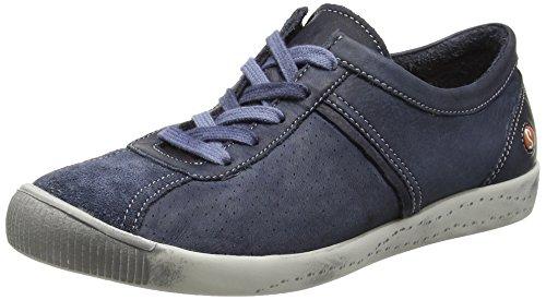 Softinos P900355 - Zapatillas de Otra Piel Mujer, Color Azul, Talla 40