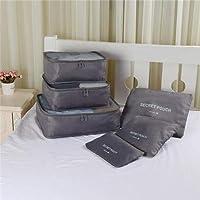 6pcs Summer Style Travel Storage Bag Set For Clothes Tidy Organizer Pouch Suitcase Handbag Home Closet Divider Drawer Organiser