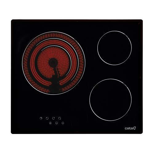 CATA TT 603 Placa Vitrocerámica, 2700 W, Vidrio y cerámica, Negro
