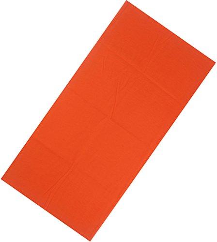 Bigood Foulard Cheveux Unisexe Headband Multifonction Masque Cache Cou Camping Orange