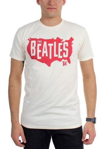 Beatles, The - Herren Die Staaten, 64 T-Shirt Cream