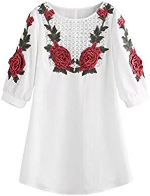 Verano Vestidos SMARTLADY Moda Mujer Bordado Encaje Mini Vestidos Partido Boda Ropa