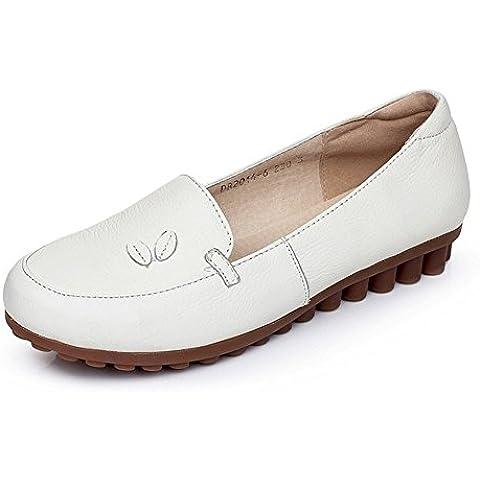 Scarpe in pelle da donna/Scarpe da lavoro infermiere bianco scarpe/Scarpe da donna casual comfort del piede/Tendine di manzo in scarpe inferiori molli