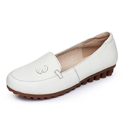 daf376b49ac83c Damen Lederschuhe Weiße Krankenschwester Schuhe Arbeitsschuhe Fuß setzt  Schuhe und Freizeit Rindfleisch
