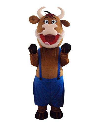 chse Bull Halloween Maskottchen Kostüm für Erwachsene Fancy Dress Outfit (Bull Halloween Kostüme)