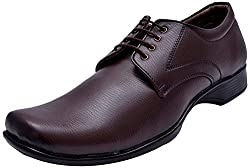 John Karsun Mens Brown Synthetic Derby Shoes - 12 UK