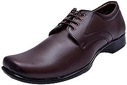 John Karsun Mens Brown Synthetic Derby Shoes - 11 UK