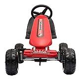 Missley Niños Karts Go-Kart Mini Coche de Pedales 4 Ruedas para 2-6 Años (Rojo)