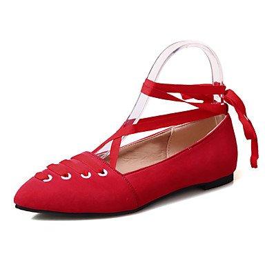 Confortevole ed elegante piatto scarpe donna Appartamenti Primavera Estate Autunno Inverno Mary Jane vello Office & Carriera Party & abito da sera tacco basso Lace-up nero rosa rosso grigio altri gray