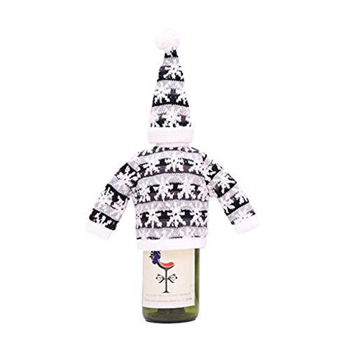 Masterein Weihnachten Xmas Weihnachtsmann Weinflasche Schutzhülse Dekoration Schreibtisch Cap Topper Abdeckungs Fall Beutel Festival Souvenirs