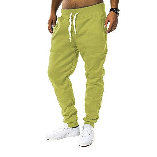 Pantaloni della tuta Uomo Fit & Casa ID1128 (vari colori), Farben:Hellgrün;Größe-Hosen:L