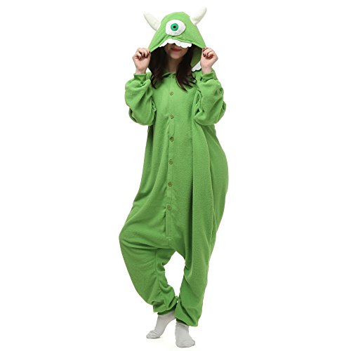 Monsters Kostüm Inc - VU Roul Halloween-Kostüm Kigurumi Einteiler S Animal für Erwachsene Gr. Medium, Mike