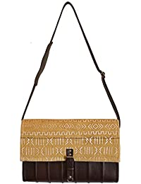 Mkoba Wa Mjumbe Bag Of The Messenger Messenger Mustard & White By Kauli