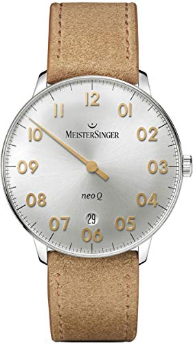 MeisterSinger Herrenuhr Einzeigeruhr mit Zusatzfunktion Neo Q NQ901GN (Uhr Meistersinger)