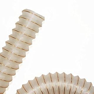 PU Absaugschlauch Saugschlauch Förderschlauch Spiralschlauch PUR UL / superleichte Ausführung / antistatisch / 38 x 46 mm - Meterware