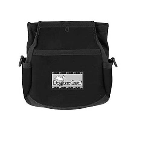 Rapid Rewards Deluxe Dog Training Bag by Doggone Good! (Black) COMES WITH BELT