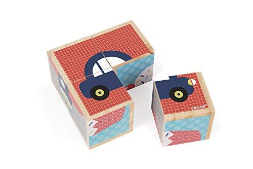 Janod - J08002 - Mes Premiers Cubes - Premiers Mots (bois)