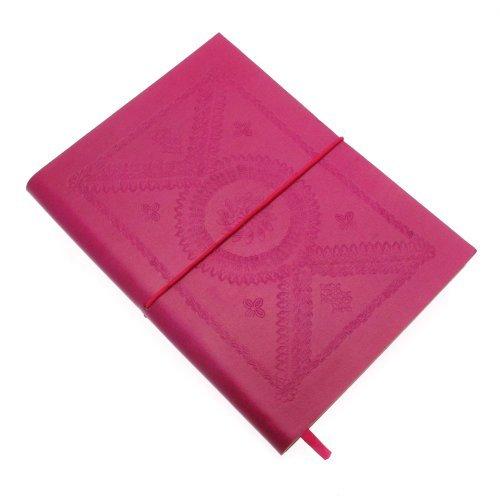 Fair Trade block notes grande colorato goffrato 175 x 230 mm fuschia