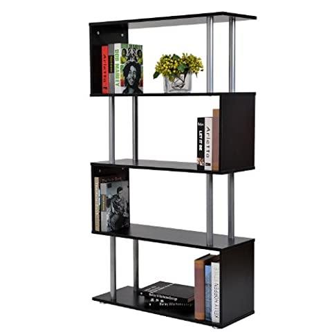 Homcom Wooden Wood S Shape Bookcase