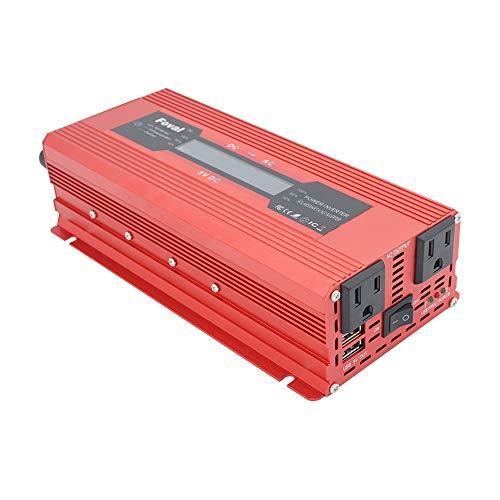 TOPmountain - 2000W Peak Solar Power Inverter für Auto, DC 12V zu 110V AC Konverter für Telefon-Haushaltsgeräte 110v Ac Power Inverter