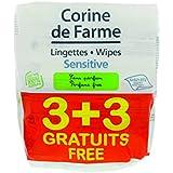 Corine de Farme 3 + 3 Lingettes Change Sensitive sans Parfum au Calendula Apaisant