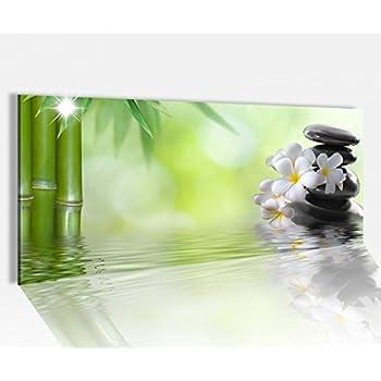 acrylglasbild 100x40cm wellness ruhe bambus zen steine glasbild bilder acrylglas. Black Bedroom Furniture Sets. Home Design Ideas