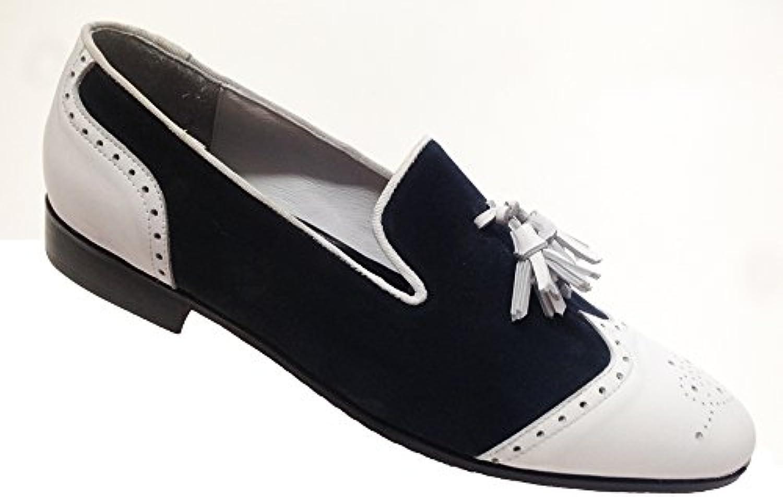 Garofalo Gianbattista - Mocasines de Piel para hombre azul azul marino / blanco