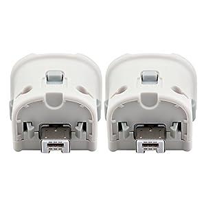 2 X Wii Motion Plus Adapter, Cosaux FM03 Wii Remote Plus Sensor Adapter für Nintendo Wii Remote Controller Weiß