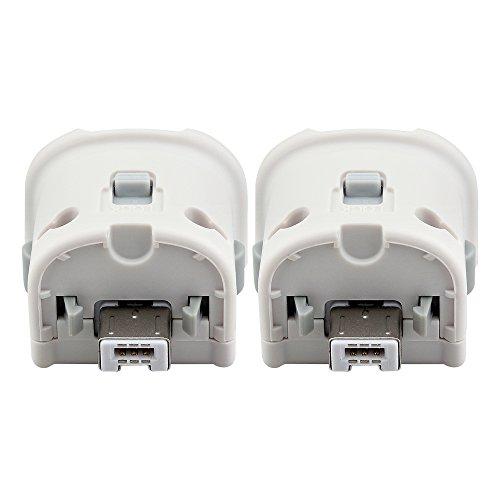 2 X Wii Motion Plus Adapter, Prous XW16 Wii Remote Plus Sensor Bewegungsadapter für Nintendo Wii Remote- Weiß (Remote-sensoren 2)