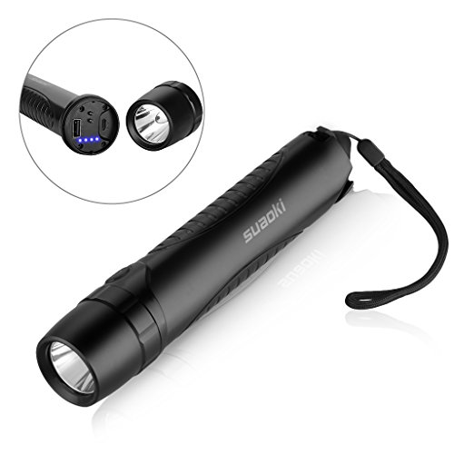 41IOkB%2BqVrL - BEST BUY #1 Suaoki TC6 LED Torch Rechargeable and Waterproof, as Flashlight, 10400mAh Power Bank, Emergency Hammer and Belt Cutter, with Micro USB Cable ¡ Reviews and price compare uk