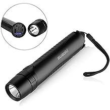 Suaoki Power Bank 10400mAh Torcia a LED Impermeabile Ricaricabile con Micro Cavo USB, Taglia Cintura e Martelletto d'Emergenza