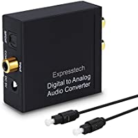 Expresstech @ Audio Convertitore Digitale-Analogico Adattatore audio da digitale Toslink coassiale a analogico Coaxial Toslink Ottico SPDIF a Analogico Stereo RCA L/R Jack 3.5mm adattatore per Cuffie PS3 XBox 360 HDTV Blu RAY DVD Sky HD Apple TV Fire TV Box