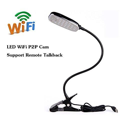Mengshen® WiFi HD cámara oculta lámpara de escritorio niñera cámara de visión...